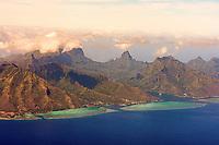 Aerial view of Moorea, French Polynesia
