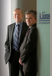 NIEL, BELGIUM - JUNE-06-2006 - Rob Van Agteren and Wim Candries of Ackinas, a consulting firm focused on helping organizations translate strategic objectives and initiatives into action plans. (Photo © Jock Fistick)