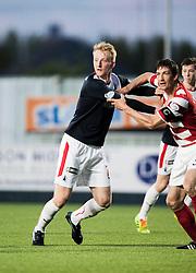 Falkirk's Mark Beck.<br /> Falkirk 1 v 1 Hamilton, Scottish Premiership play-off semi-final first leg, played 13/5/2014 at the Falkirk Stadium.