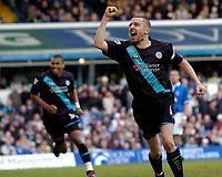 Photo: Richard Lane.Digitalsport<br /> Birmingham City v Leicester City. FA Barclaycard Premiership. 13/03/2004.<br /> Muzzy Izzet celebrates his goal.