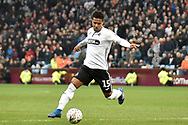 Swansea City midfielder Wayne Routledge (15) shapes to shoot during the The FA Cup 3rd round match between Aston Villa and Swansea City at Villa Park, Birmingham, England on 5 January 2019.
