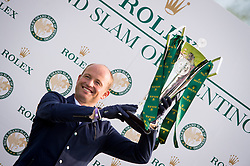 Michael Jung with the Rolex Grand Slam Trophy<br />