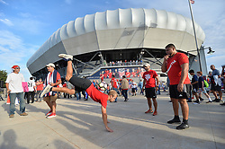 September 1, 2017 - Harrison, NJ, USA - Harrison, N.J. - Friday September 01, 2017: USA supporters during a 2017 FIFA World Cup Qualifying (WCQ) round match between the men's national teams of the United States (USA) and Costa Rica (CRC) at Red Bull Arena. (Credit Image: © John Todd/ISIPhotos via ZUMA Wire)
