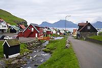 Houses in Gjógv, Faroe Islands.