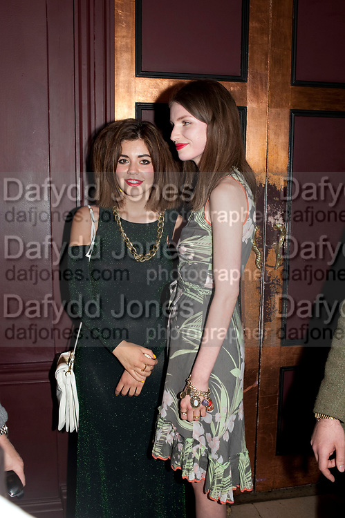 MARINA DIAMONDIS; TALI LENNOX, Esquire Magazine's June issue hosted by the magazine's new editor Alex Bilmes and singer Lily Allen. Sketch.  5 May 2011<br /> <br />  , -DO NOT ARCHIVE-© Copyright Photograph by Dafydd Jones. 248 Clapham Rd. London SW9 0PZ. Tel 0207 820 0771. www.dafjones.com.
