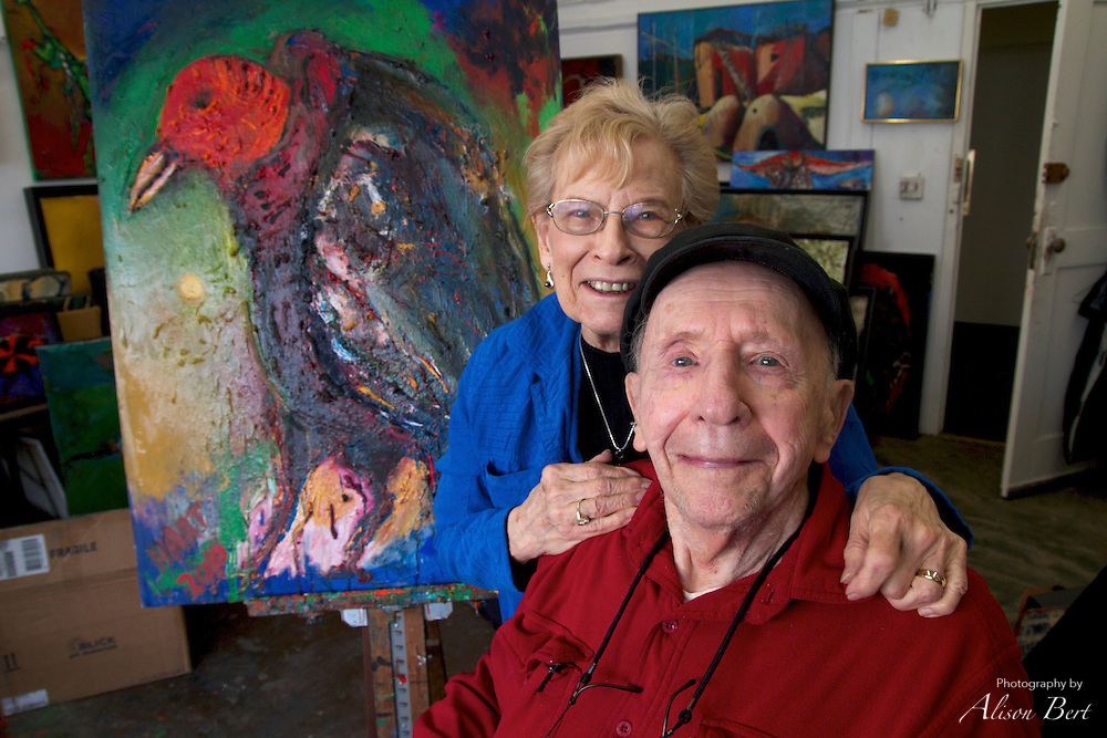 Millie and Allen Hart after the first day of the RiverArts Studio Tour 2012.