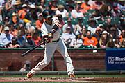 San Francisco Giants center fielder Gorkys Hernandez (66) bats against the Arizona Diamondbacks at AT&T Park in San Francisco, California, on August 6, 2017. (Stan Olszewski/Special to S.F. Examiner)