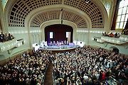 SHOT 5/10/15 1:11:47 PM - Naropa University Spring 2015 Commencement ceremonies at Macky Auditorium in Boulder, Co. Sunday. Parker J. Palmer, a world-renowned author and activist known for his work in education and social change, delivered the commencement speech to more than 300 graduate and undergraduate students along with Naropa faculty and graduate's family members. Naropa University is a private liberal arts college in Boulder, Colorado founded in 1974 by Tibetan Buddhist teacher and Oxford University scholar Chögyam Trungpa. (Photo by Marc Piscotty / © 2014)