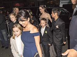 """Angelina Jolie and her kids at the premiere of """"First they killed my father"""". 14 Sep 2017 Pictured: Angelina Jolie, Pax Jolie-Pitt, Knox Jolie-Pitt, Zahara Jolie-Pitt, Vivienne Jolie-Pitt, Shiloh Jolie-Pitt, Maddox Jolie-Pitt. Photo credit: SM / MEGA TheMegaAgency.com +1 888 505 6342"""