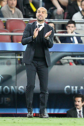 06.05.2015, Camp Nou, Barcelona, ESP, UEFA CL, FC Barcelona vs FC Bayern Muenchen, Halbfinale, Hinspiel, im Bild Chef-Trainer Pep Guardiola (FC Bayern Muenchen) // during the UEFA Champions League semi finals 1st Leg match between FC Barcelona and FC Bayern Munich at the Camp Nou in Barcelona, Spain on 2015/05/06. EXPA Pictures © 2015, PhotoCredit: EXPA/ Eibner-Pressefoto/ Kolbert<br /> <br /> *****ATTENTION - OUT of GER*****