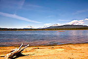 Crane Prairie Reservoir Oregon Including South Sister, Broken Top Mountain and Mt. Bachelor
