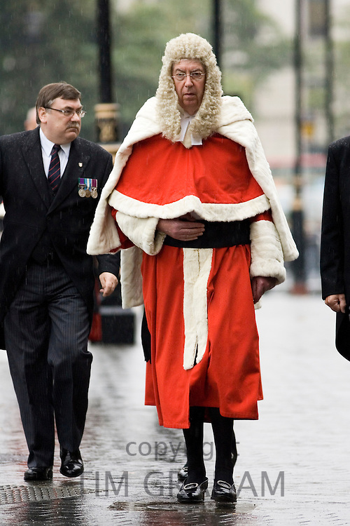 Judges Procession on rainy day  from Westminster Abbey, London, England, United Kingdom