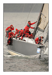 Brewin Dolphin Scottish Series 2010, Tarbert Loch Fyne - Yachting..A wet start for day 2 of the series with consistant winds...IRL3939 ,Antix ,Anthony O'Leary, Royal Cork YC ,Ker 39......