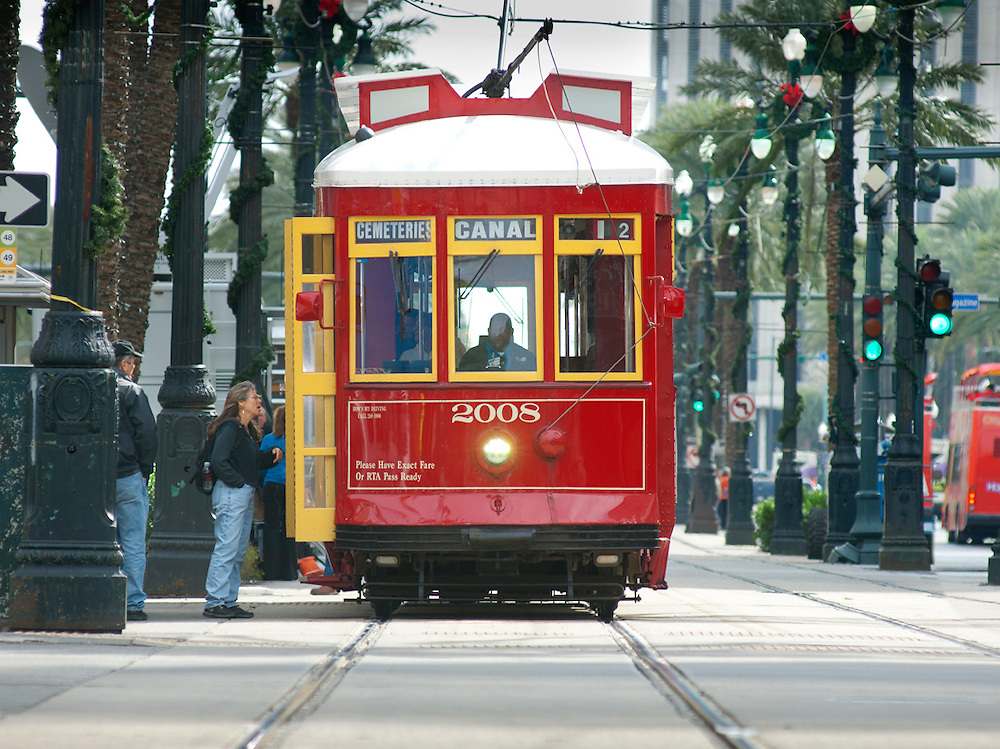 Louisiana, New Orleans, Canal Street, Street Car