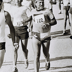 Austin, Texas: Country singer Willie Nelson initiated the Willie Nelson Distance Classic Sunday at his Pedernales Country Club near Lake Travis in Austin. 1980   ©Bob Daemmrich / The Image Works