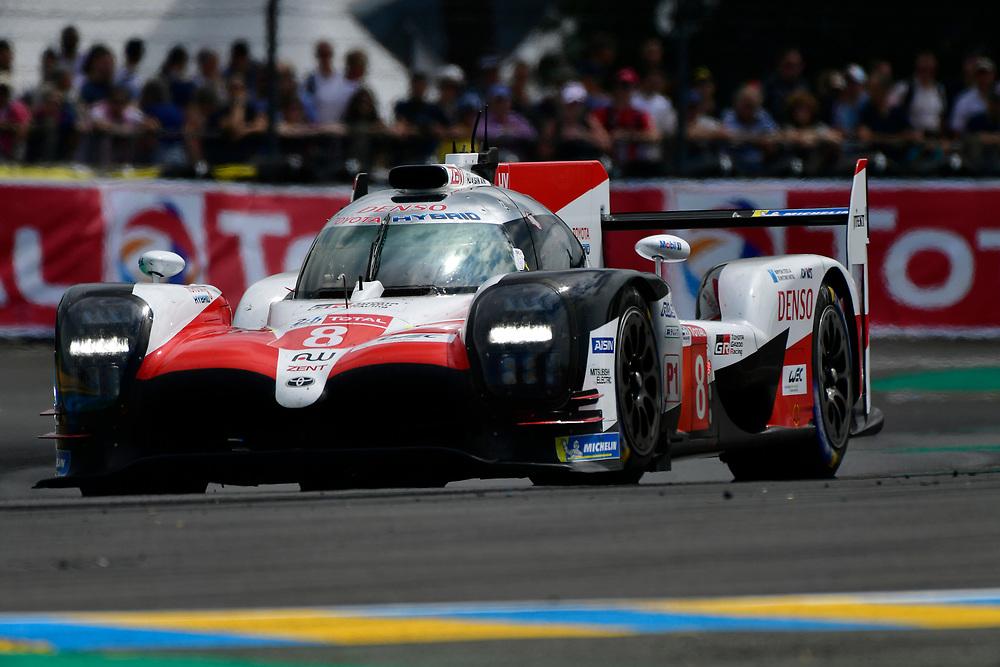 #8 Toyota Gazoo Racing Toyota TS050: Sébastien Buemi, Kazuki Nakajima, Fernando Alonso<br /> Saturday 16 June 2018<br /> 24 Hours of Le Mans<br /> 2018 24 Hours of Le Mans<br /> Circuit de la Sarthe  FR<br /> World Copyright: Scott R LePage