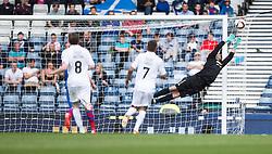 Falkirk's Will Vaulks shot just misses. Falkirk 1 v 2 Inverness CT, Scottish Cup final at Hampden.