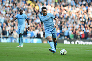 Frank Lampard of Man city in action. Barclays premier league match, Manchester city v Chelsea at the Etihad stadium in Manchester,Lancs on Sunday 21st Sept 2014<br /> pic by Andrew Orchard, Andrew Orchard sports photography.