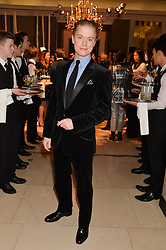 FREDDIE FOX at a Dinner to celebrate the launch of the Mulberry Cara Delevingne Collection held at Claridge's, Brook Street, London on 16th February 2014.