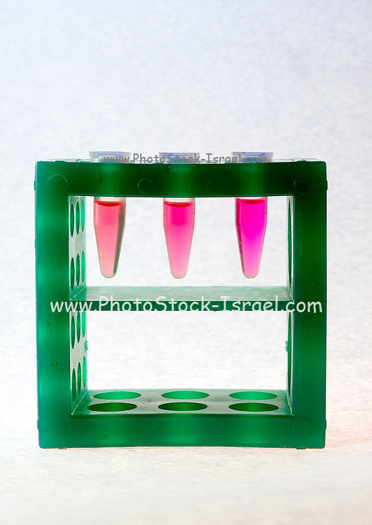 3 Test tubes in a tube rack