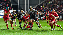 Toulon's Duane Vermeulen enrolee to scoring his sides first try<br /> <br /> Photographer Craig Thomas/Replay Images<br /> <br /> European Rugby Champions Cup Round 5 - Scarlets v Toulon - Saturday 20th January 2018 - Parc Y Scarlets - Llanelli<br /> <br /> World Copyright © Replay Images . All rights reserved. info@replayimages.co.uk - http://replayimages.co.uk