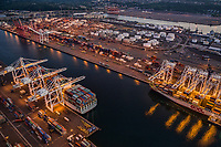 Tankers along Duwamish Waterway, Harbor Island
