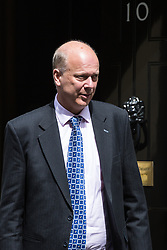 London, UK. 7 May, 2019. Chris Grayling MP, Secretary of State for Transport, leaves 10 Downing Street following a Cabinet meeting.