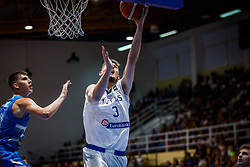 Kourtidis  Valantis of Greece during basketball match between National teams of Greece and Slovenia in the Group Phase C of FIBA U18 European Championship 2019, on July 29, 2019 in  Nea Ionia Hall, Volos, Greece. Photo by Vid Ponikvar / Sportida