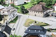 Orava village as seen from Orava Castle, Oravský Podzámok, Slovakia.