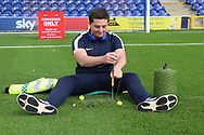 Stitching the pitch during the EFL Sky Bet League 1 match between AFC Wimbledon and Portsmouth at the Cherry Red Records Stadium, Kingston, England on 13 October 2018.