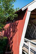 Imes Bridge; Photograph of the Bridges of Madison County, Winterset, Iowa, USA.