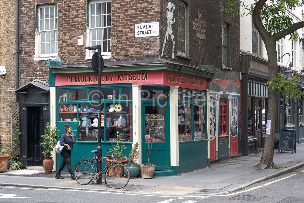 Pollocks Toy Museum on the 27th September 2019 in London in the United Kingdom. Pollocks Toy Museum is a small museum in central London.