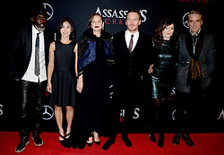 Michael K. Williams, Michelle Lin, Marion Cotillard, Jeremy Irons, Essie Davis and Michael Fassbender attending the Assassin's Creed premiere at AMC Empire 25 theater on December 13, 2016 in New York City, NY, USA. Photo by Dennis Van Tine/ABACAPRESS.COM