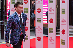 London, UK. 13th March, 2019. AJ Pritchard arrives at the London Palladium to attend the annual Prince's Trust Awards to be presented by HRH the Prince of Wales, President of the Prince's Trust. The Prince's Trust and TKMaxx & Homesense Awards recognise young people who have succeeded against the odds, improved their chances in life and had a positive impact on their local community.