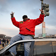 Andre Dalton from Maryland poses for photo with a double victory sign.