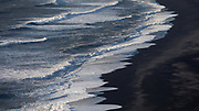 Waves on Reynisfjara Beach, south Iceland