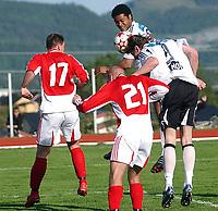 Fotball NM 3. runde Byåsen - Rosenborg 1-8<br /> Frode Johnsen header inn 0-3<br /> Foto: Carl-Erik Eriksson, Digitalsport