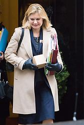 Downing Street, London, December 13th 2016. Education Secretary Justine Greening leaves the weekly meeting of the cabinet at Downing Street, London.