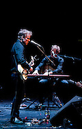 American Indie rock band Low performing at the Barbican, London, UK (30 April 2013). Alan Sparhawk (vocals, guitar) and Steve Garrington (bass, keyboards). © Rudolf Abraham