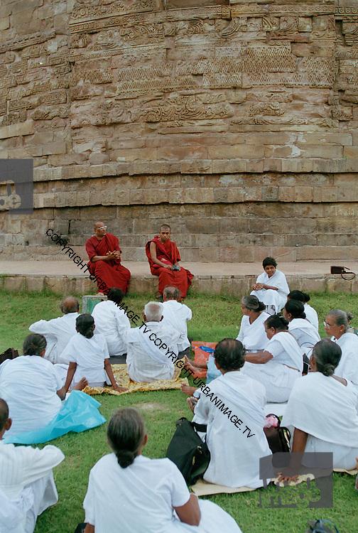 Sri Lankan Pilgrims at the Dhamek Stupa - Sarnath