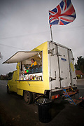 Named after Robins boat, the Speedway Star burger van is situated along the A149 on the 27th October 2009 north of Great Yarmouth in the United Kingdom.