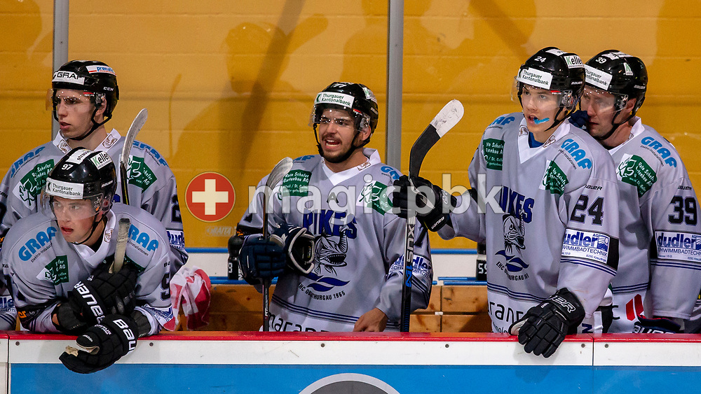 PIKES EHC Oberthurgau forward Lars Mathis (#24) is pictured during a Swiss 1st League ice hockey game (Season 2018/2019) between EHC Wetzikon and PIKES EHC Oberthurgau in Wetzikon, Switzerland, Saturday, Oct. 6, 2018. (Photo by Patrick B. Kraemer / MAGICPBK)