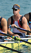 Banyoles, SPAIN, GBR M4X, Marcus BATEMAN,  at the start of the race for lanes in the Men's quadruple sculls  FISA World Cup Rd 1. Lake Banyoles  Saturday, 30/05/2009   [Mandatory Credit. Peter Spurrier/Intersport Images]