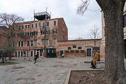 A view of the Campo di Ghetto Nuovo, in the old Jewish ghetto in Venice. From a series of travel photos in Italy. Photo date: Monday, February 11, 2019. Photo credit should read: Richard Gray/EMPICS Entertainment