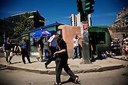 Central Tirana street scene.
