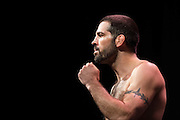DALLAS, TX - MARCH 13:  Matt Brown stands on the scale during the UFC 185 weigh-ins at the Kay Bailey Hutchison Convention Center on March 13, 2015 in Dallas, Texas. (Photo by Cooper Neill/Zuffa LLC/Zuffa LLC via Getty Images) *** Local Caption *** Matt Brown