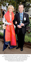 Actress ANGHARAD REES and MR DAVID McALPINE, t the Chelsea Flower Show in London on 20th May 2002.PAE 49