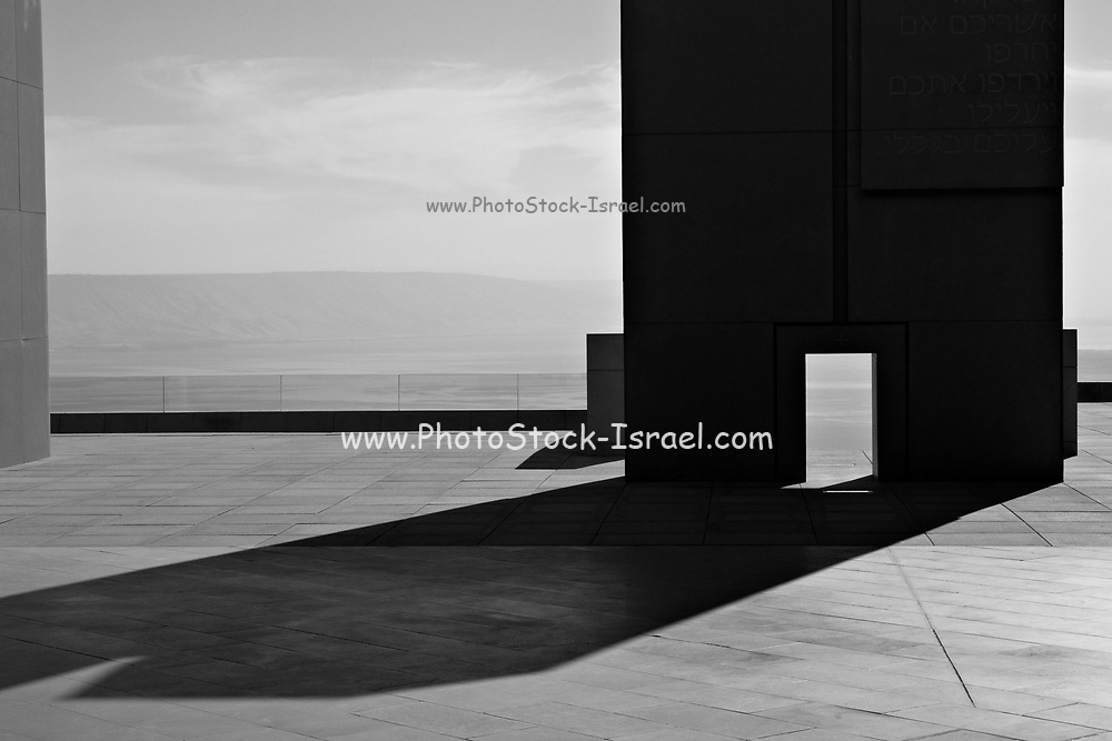 Abstract architecture with light and shadows in black and white