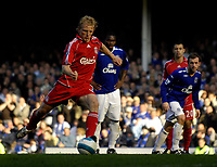 Photo: Jed Wee/Sportsbeat Images.<br /> Everton v Liverpool. The FA Barclays Premiership. 20/10/2007.<br /> <br /> Liverpool's Dirk Kuyt wins the game for them with his second penalty, late in injury time.