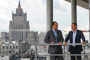 Moscow, Russia, 06/09/2012..CapMan Partners Alberto Morandi and Alexander Vlasov in the company's Moscow headquarters.